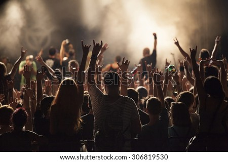 Cluj-Napoca, ROMANIA - AUGUST 3, 2015: Crowd having fun during a live concert at Untold Festival in the European Youth Capital city of Cluj Napoca