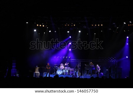 CLUJ NAPOCA, ROMANIA - JUNE 7: The famous rock band Deep Purple performs on stage during the Cluj Arena Music Fest 2013, on June 7, 2013 in Cluj Napoca, Romania.