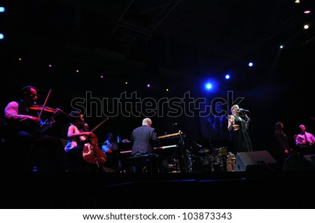 CLUJ NAPOCA, ROMANIA � MAY 29: Jazz band Pink Martini performs live at the Sports Hall of Cluj, Romania, MAY 29, 2012 in Cluj-Napoca, Romania