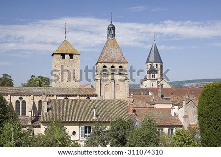 Cluny, Burgundy, France. - stock photo