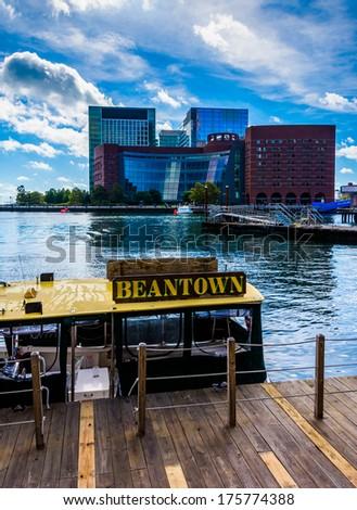 Cluster of buildings in Boston, Massachusetts.  - stock photo