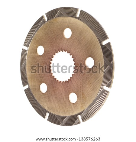 Clutch disc isolated on white