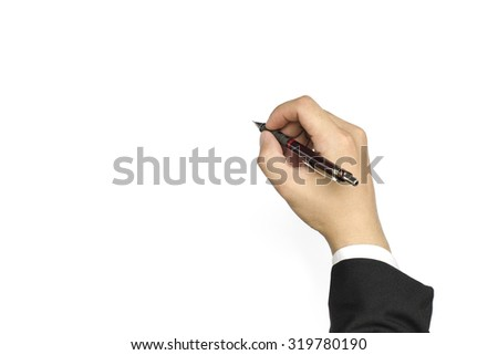 clutch-type pencil in hand