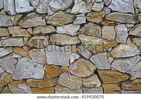 Clutches of different stones - stock photo