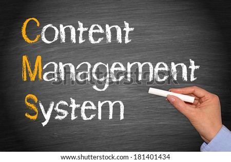 CMS - Content Management System - stock photo