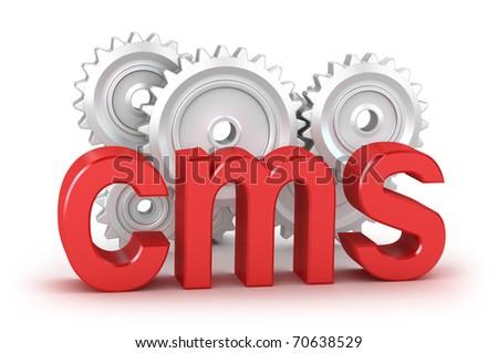 CMS : content management system concept - stock photo