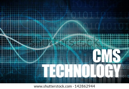 CMS Technology or Content Management System Tech - stock photo