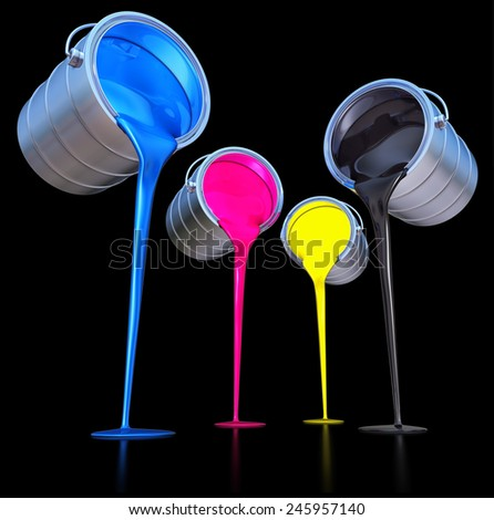 cmyk color concept - stock photo