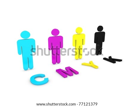 CMYK colors - stock photo