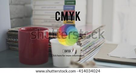 CMYK RGB Colour Colorscheme Creativity Concept - stock photo