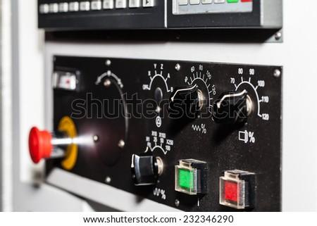 CNC Control - stock photo