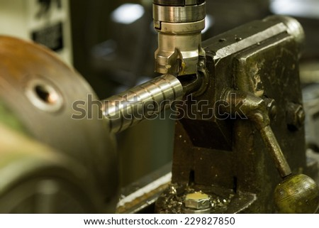CNC drilling and milling - stock photo
