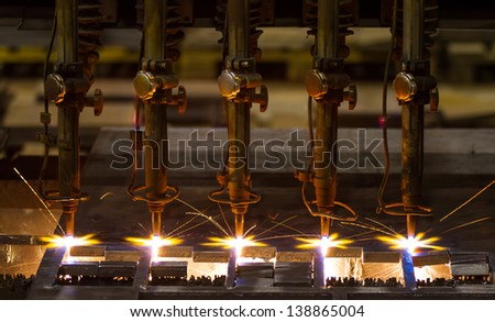 CNC LPG cutting - stock photo