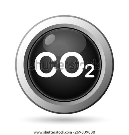 CO2 icon. Internet button on white background.  - stock photo