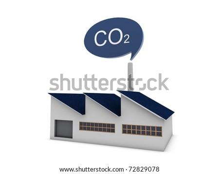 CO2 modern factory - stock photo