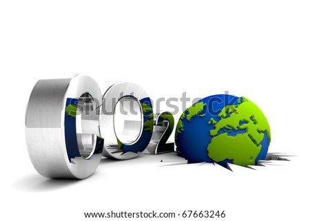 CO2 pollution. Excessive emission. The world needs ecology.