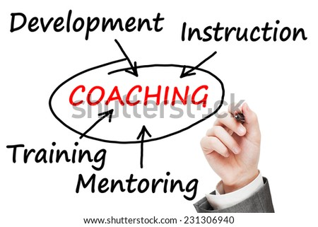 Coaching concept - stock photo