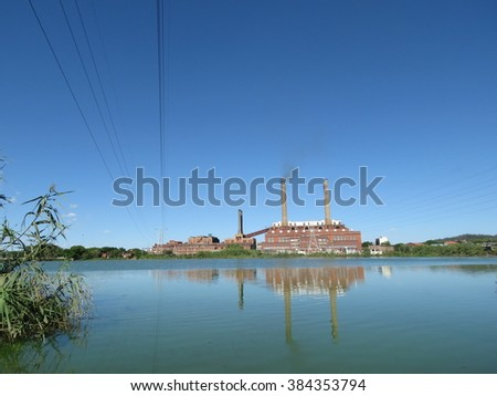 Coal fired power station. - stock photo