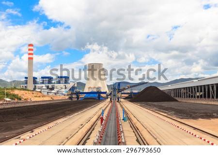 Coal in Stockpile - stock photo