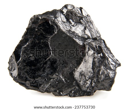 coal isolated on a white background - stock photo