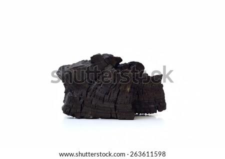 Coal isolated on white background - stock photo