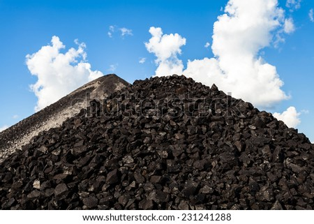 Coal mine - Electricity - Lignite Coal - Coal mine industry in Thailand - stock photo