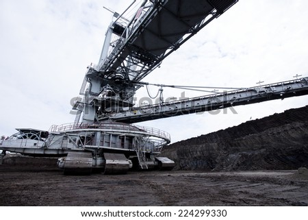 Coal Mine Machine Background Closeup  - stock photo