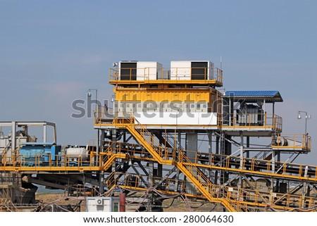 coal mine machinery heavy industry - stock photo