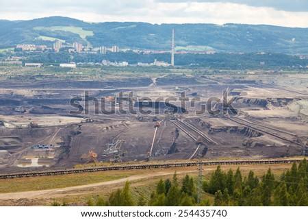 Coal mine, Sokolov,Czech Republic - stock photo