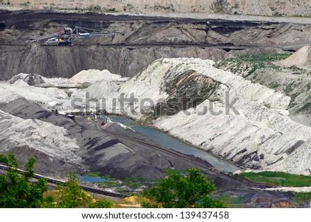 """Coal mining basin """"Kolubara"""" in Serbia - stock photo"""