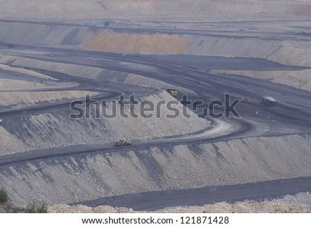 coal mining site at Pingshuo,china - stock photo