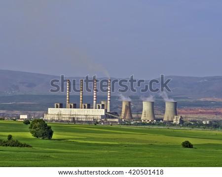 Coal Power Plant - stock photo