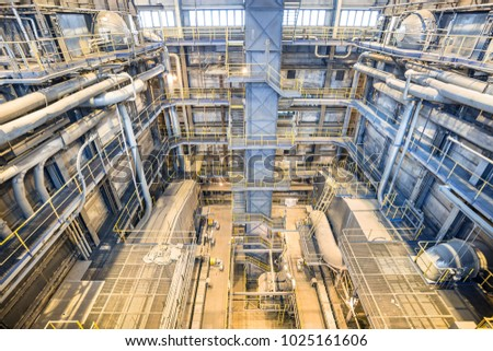 Coal Power Plant Industry Interior Boilers Stock Photo (Royalty Free ...