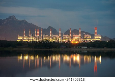 Coal power plant, Mae Moh Power Plant, Lampang, Thailand - stock photo