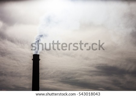 Coal power plant smokestacks