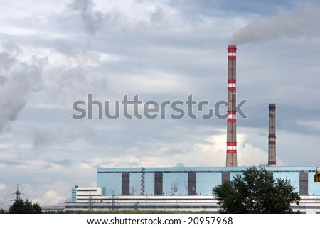 coal power plant with pipes
