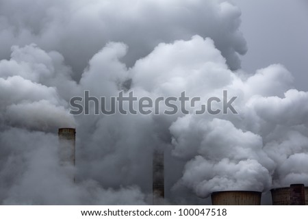 coal power station with emissions