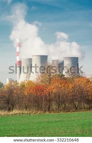 Coal powerstation in Laziska, Poland - stock photo