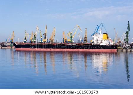 Coal ship - stock photo