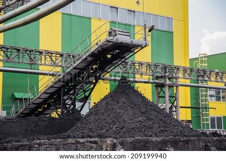 coal shipment - stock photo
