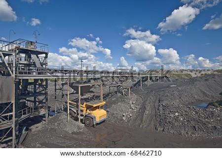 Coal sorting. - stock photo
