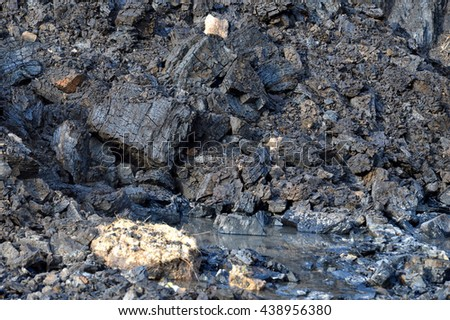 coals miningl land - stock photo