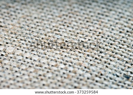 coarse jute fabric / jute fabric background - stock photo