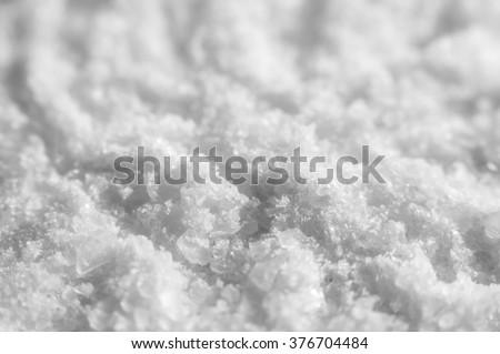 Coarse Salt Detailed Texture Background Macro closeup - stock photo