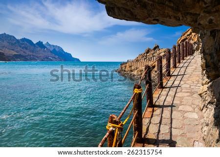 Coast at Taganana in Tenerife island - Canary Spain - stock photo