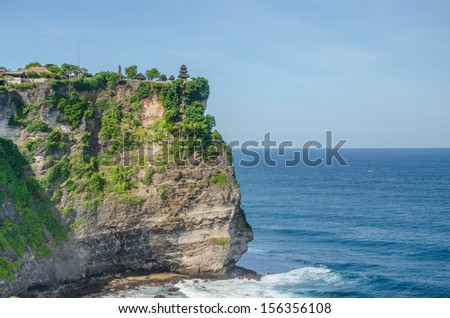 Coast at Uluwatu temple, Bali, Indonesia.