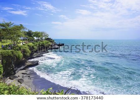 Coast at Uluwatu temple, Bali, Indonesia - stock photo