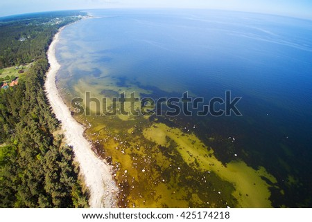 Coast gulf of Riga, Baltic sea. - stock photo