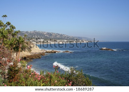 Coast in Laguna Beach, California - stock photo