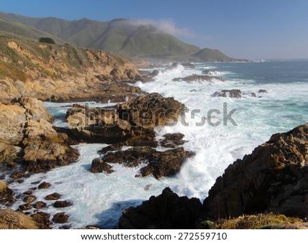 Coast Landscape of Big Sur, California, USA - stock photo